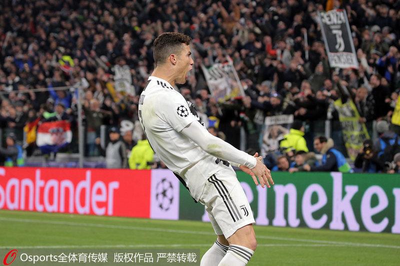 欧冠-C罗霸气帽子戏法 尤文3:0马竞 总比分3:2逆转晋级