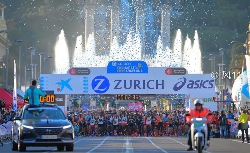 高清:第41届巴塞罗那马拉松盛大开跑