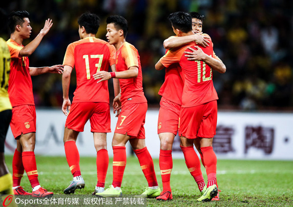 U23亚锦赛-张玉宁蒋圣龙建功中国队2-2马来西亚挺进正赛