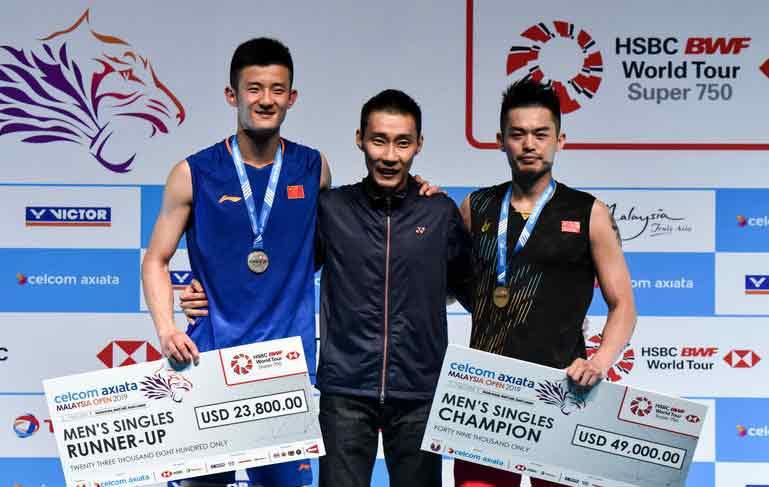 马来西亚羽毛球公开赛 林丹2-1胜谌龙夺冠