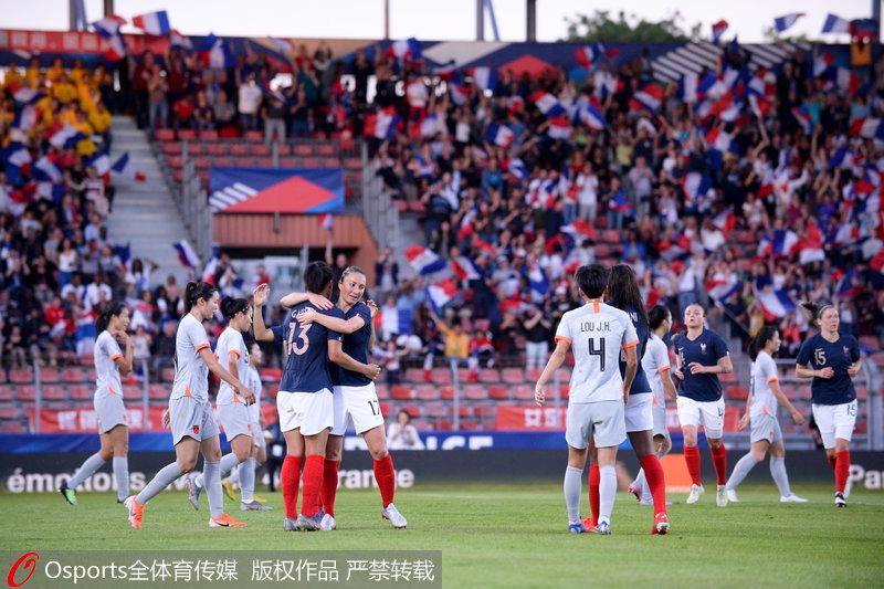 友谊赛王珊珊破门 法国女足2-1胜中国女足