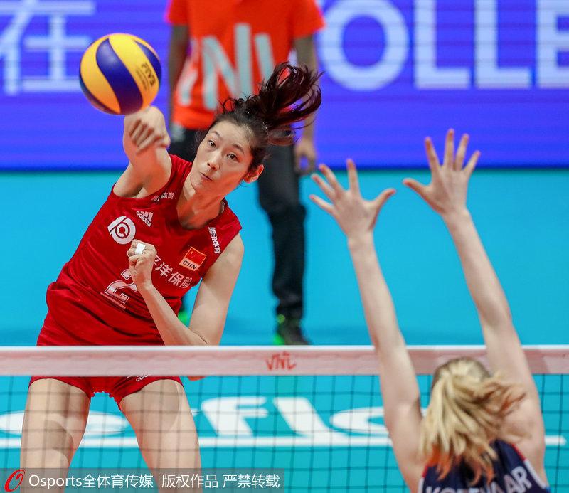 世联赛香港站-朱婷18分中国女排3-0胜荷兰 将与意大利