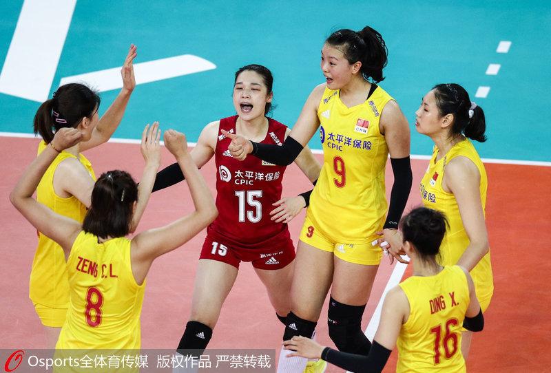 中国女排3-0完胜土耳其 世联赛豪取9连