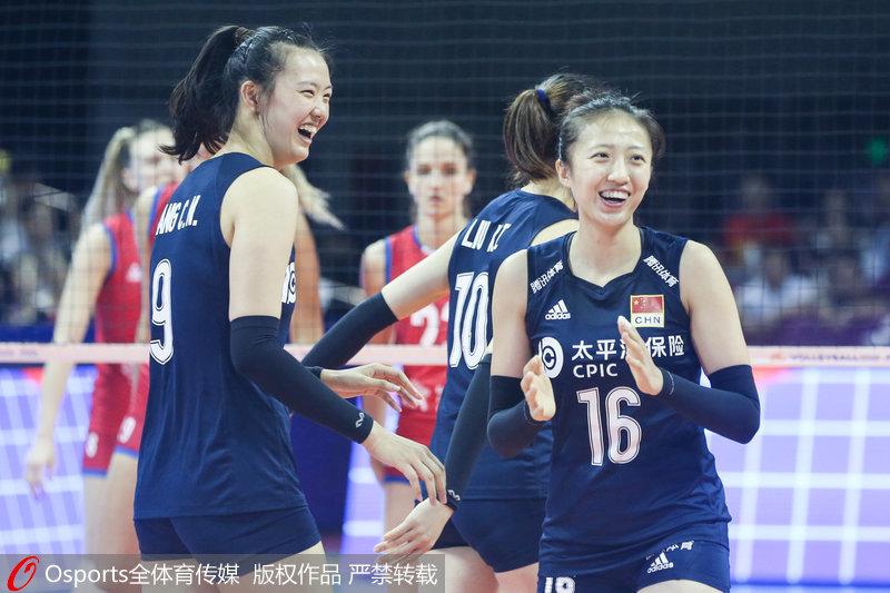 中国女排3-0横扫塞尔维亚 3战全胜夺世联赛北仑站冠军