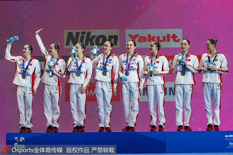 中國隊登上領獎臺