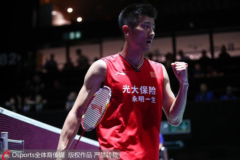 高清:2019年羽毛球世锦赛谌龙2