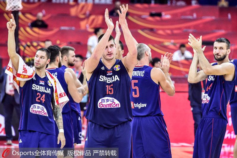高清:2019男篮世界杯D组塞尔维亚92:77力克意大利排名小组第一