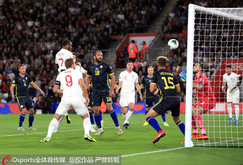 欧预赛-斯特林助攻带帽桑乔梅开二度英格兰5-3胜科索沃