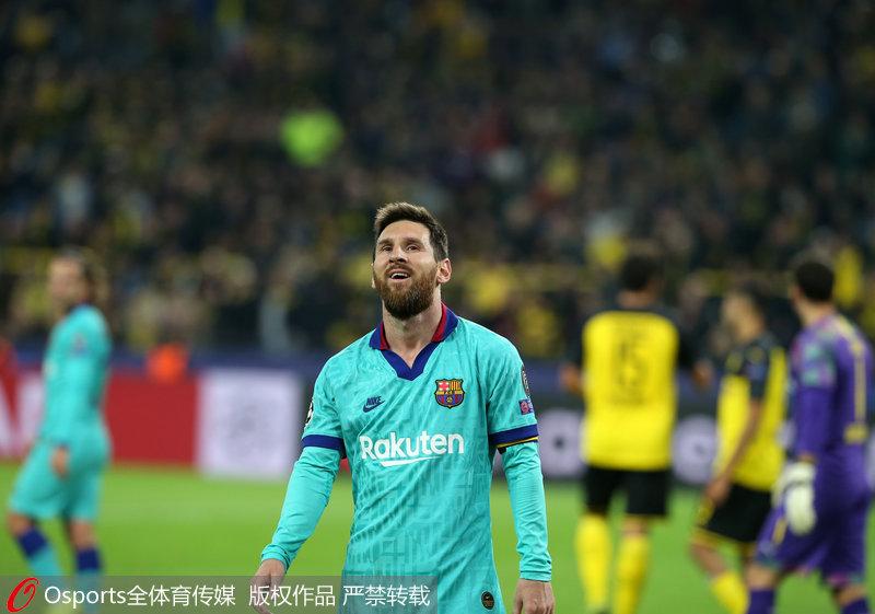 欧冠-罗伊斯丢点 巴塞罗那客场0-0平多特蒙德
