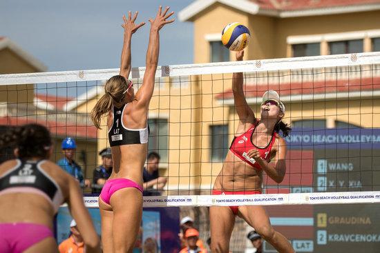 东京奥运会沙滩排球世界资格赛 中国女队连胜欧洲冠军