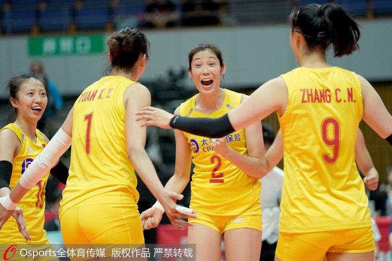 中国队庆祝胜利