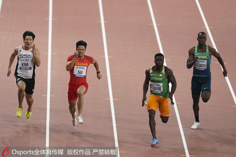 高清:多哈田径世锦赛百米预赛苏炳添、谢震业晋级半决赛