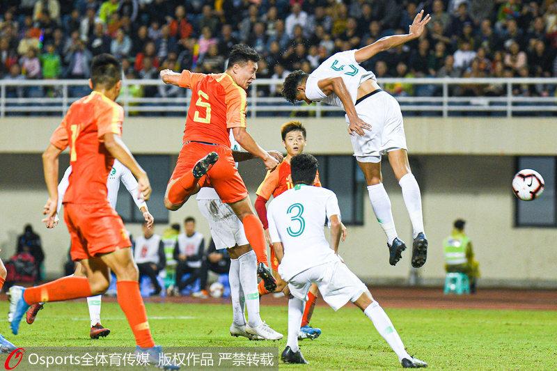 四国赛:张玉宁伤退中国国奥0:0