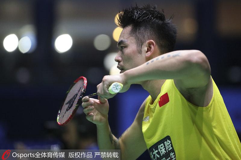 法国羽毛球公开赛男单 林丹0 2负谌龙无缘8强