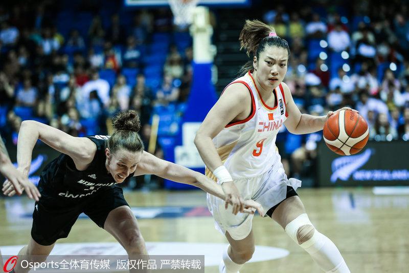 高清:东京奥运资格赛亚大区预赛中国女篮完胜新西兰
