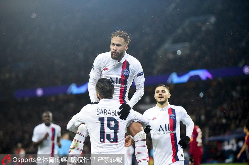 欧冠-五将开花姆巴佩独造4球 大巴黎5:0胜加拉塔萨雷