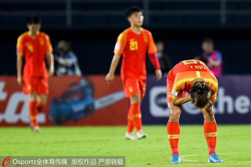 中国队队员遗憾失利
