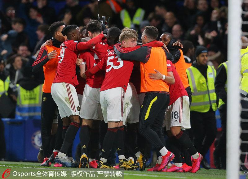 英超-曼联2-0客胜切尔西赛季双杀对手
