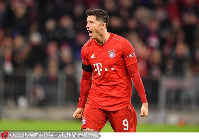 德甲:莱万梅开二度+绝杀拜仁3