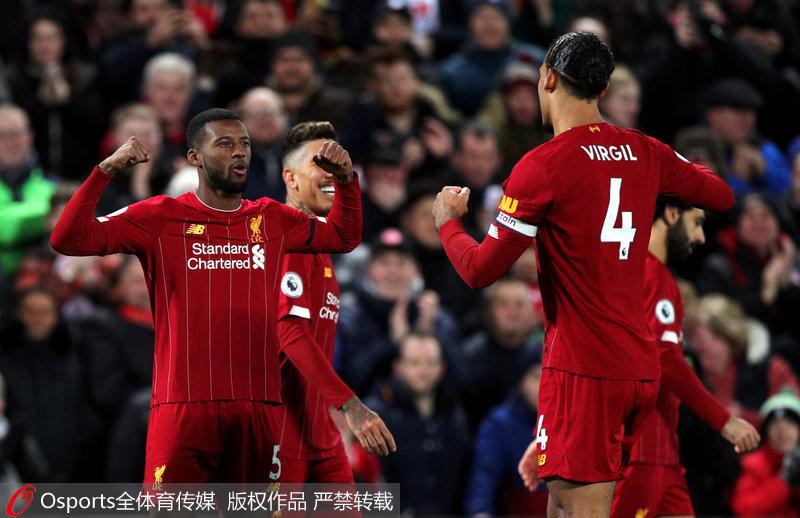 英超-阿诺德两助攻萨拉赫破门 利物浦3:2胜西汉姆