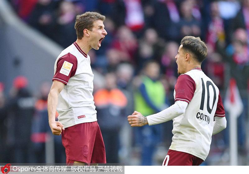 德甲-穆勒戈雷茨卡建功拜仁2-0胜奥格斯堡