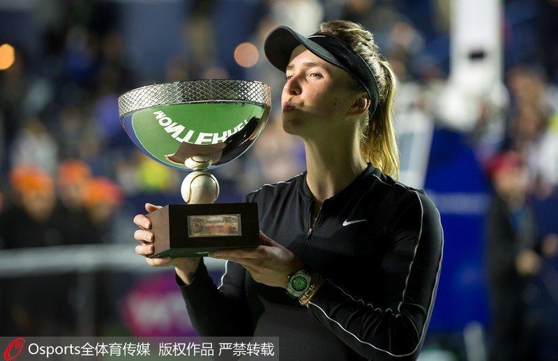 高清:WTA蒙特雷公开赛 斯维托丽娜2-1博兹科娃夺赛季首冠