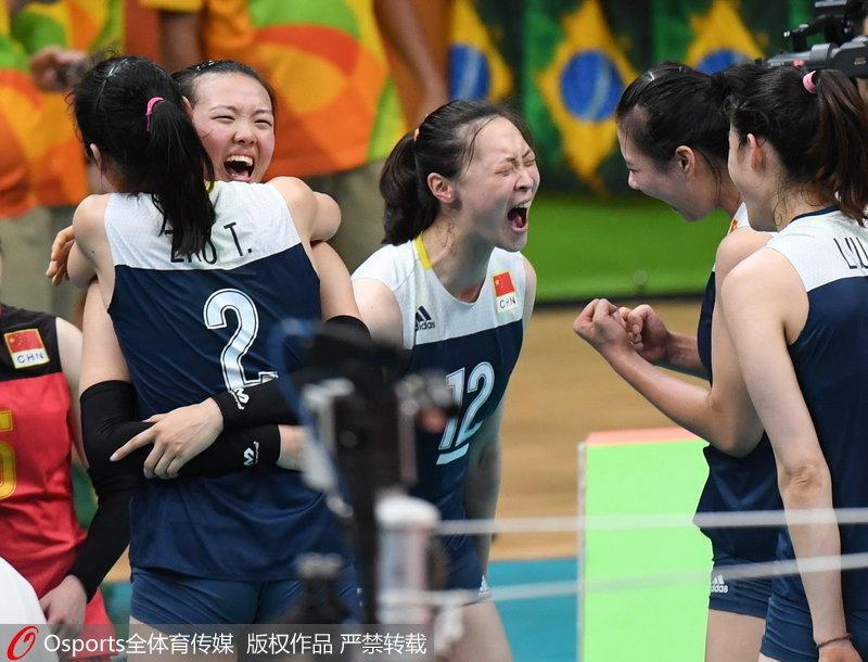 组图:回顾里约奥运会中国女排夺冠之路