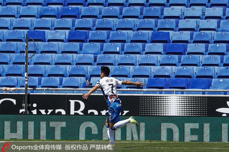 武磊庆祝进球