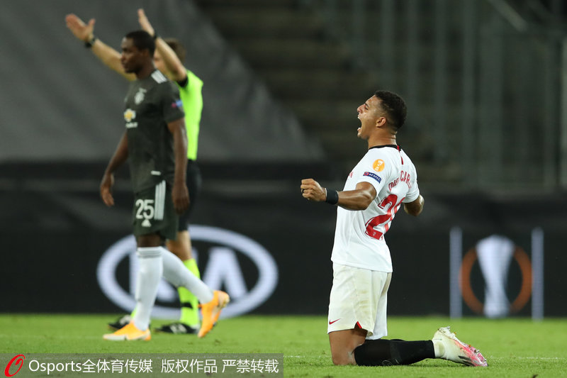 欧联杯-费尔南德斯点射曼联1-2不敌塞维利亚无缘四强