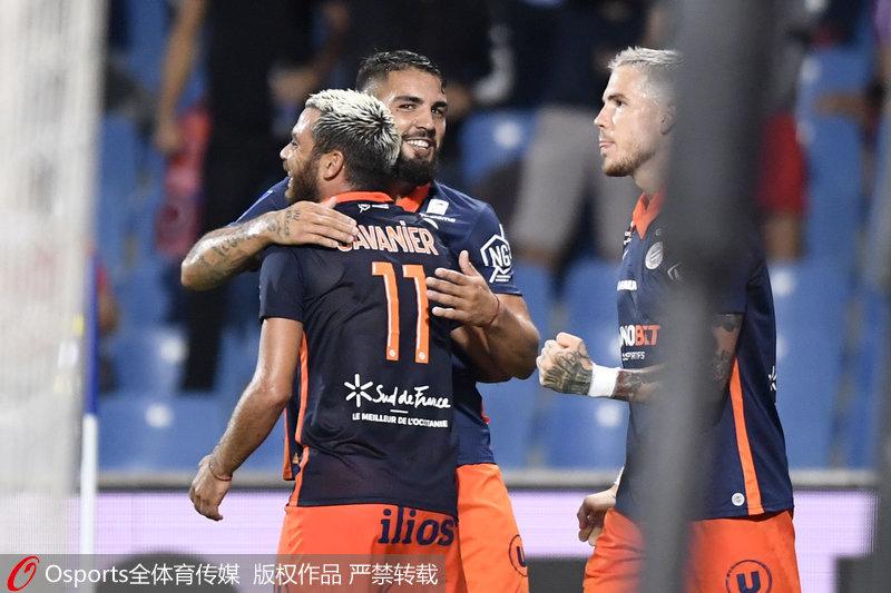 法甲-萨瓦尼尔双响双方队长均染红 蒙彼利埃2-1里昂