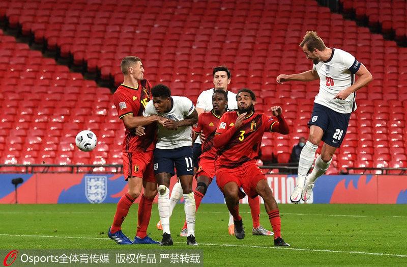 欧国联-芒特制胜拉什福德点射英格兰2:1逆转比利时