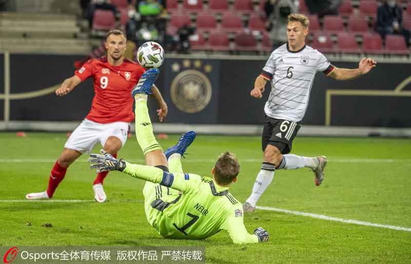 欧联杯-维尔纳、哈弗茨传射格纳布里破门德国3:3平瑞士