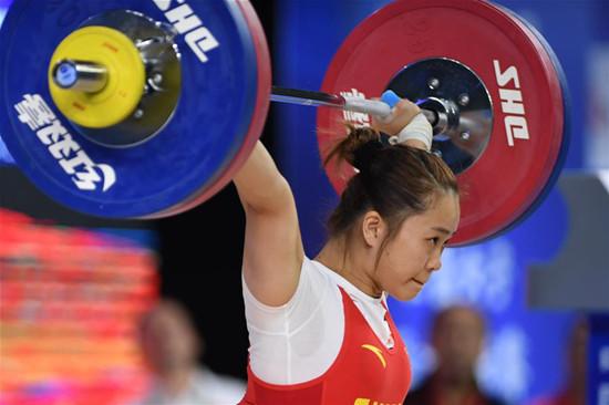 举重——全国女子锦标赛64公斤级A组赛况