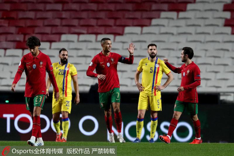 友谊赛-C罗传射保利尼奥双响葡萄牙7:0大胜安道尔