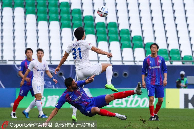 亚冠-于汉超造点并命中上海申花1:0小胜东京FC
