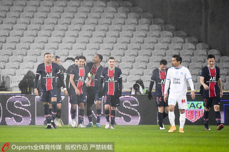法超杯-伊卡尔迪、内马尔破门大巴黎2-1胜马赛夺冠