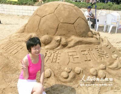 性感宝贝助阵 06沙滩足球嘉年华青岛举行 (6)
