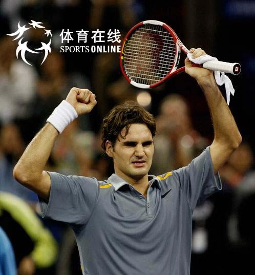上海网球大师杯 半决赛费德勒击败纳达尔