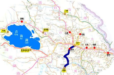 青海湖到西宁地图