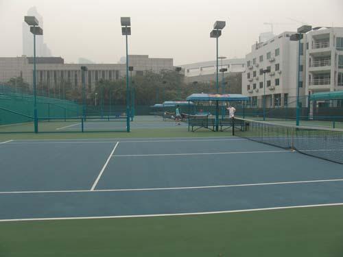 天河体育中心网球场判官三代射箭图片