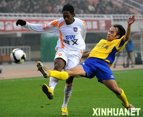 中超第27轮:陕西中新战青岛中能0-2告负4连败