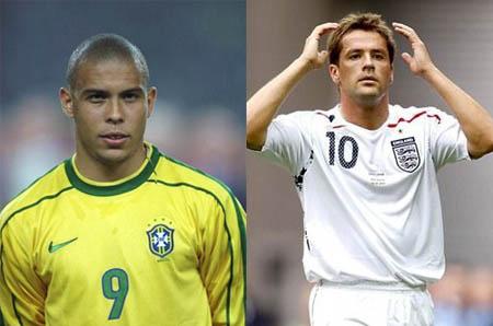 梅西捧金球比C罗卡卡年轻 仍不敌罗纳尔多与欧文图片