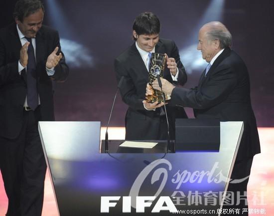 梅西/2009年世界足球先生揭晓梅西完胜C罗荣膺大满贯布拉特颁奖