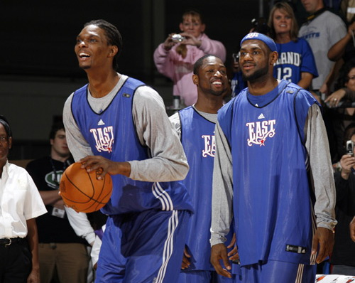 詹姆斯携手韦德波什 热火组建NBA历史超级舰队图片