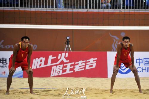 亚运会沙滩排球 中国队胜阿曼队 7