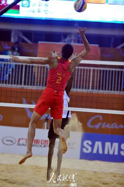 亚运会沙滩排球 中国队胜阿曼队